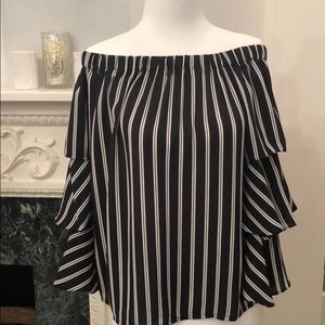 Romeo and Juliet off the shoulder blouse